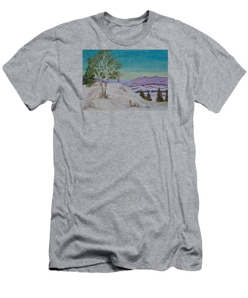 Winter Mountains With Hare Men's T-Shirt (Athletic Fit)