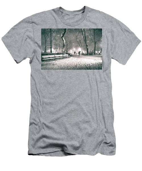 Winter Night - New York City - Madison Square Park Men's T-Shirt (Athletic Fit)