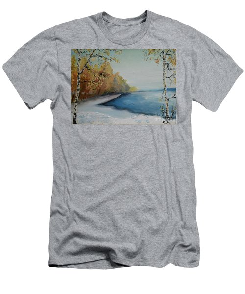 Winter Starts At Kymi River Men's T-Shirt (Athletic Fit)