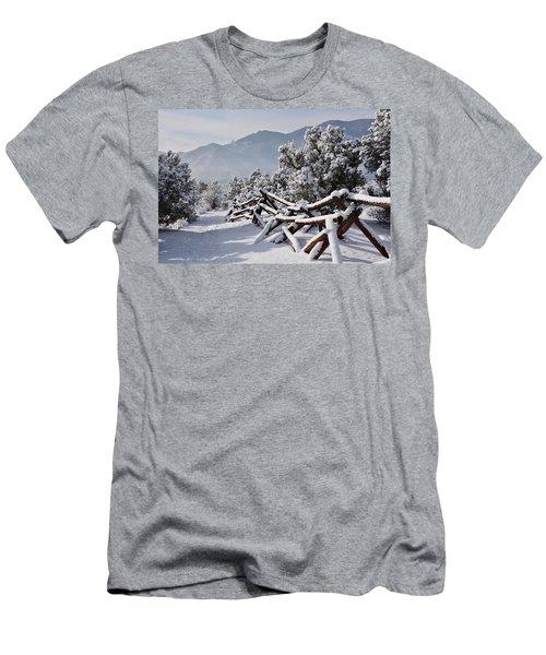 Winter Trail Beckons Men's T-Shirt (Slim Fit) by Diane Alexander