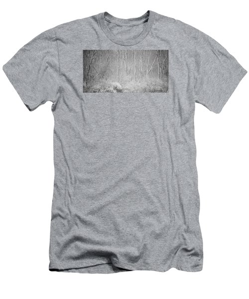 Men's T-Shirt (Slim Fit) featuring the photograph Winter Wood 2013 by Joan Davis