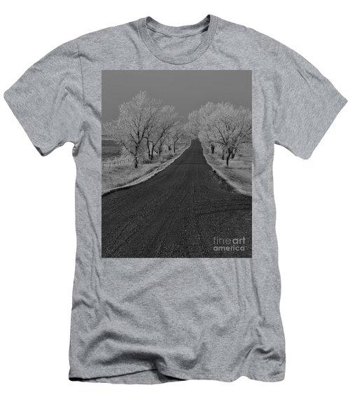 A Rural Winter's Road Men's T-Shirt (Athletic Fit)