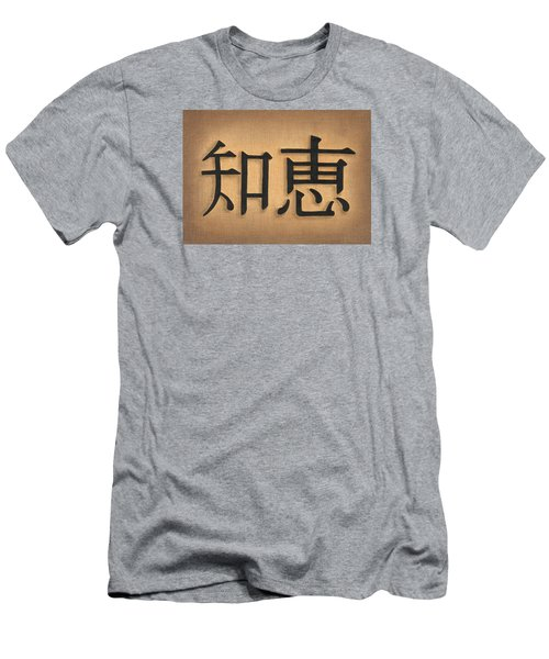 Men's T-Shirt (Slim Fit) featuring the drawing Wisdom by Troy Levesque