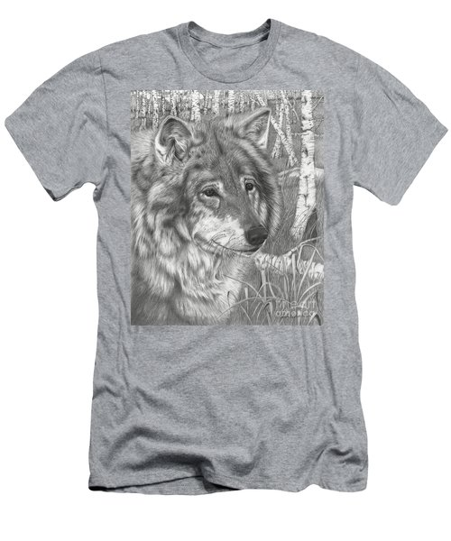 Wolf Gaze Men's T-Shirt (Athletic Fit)