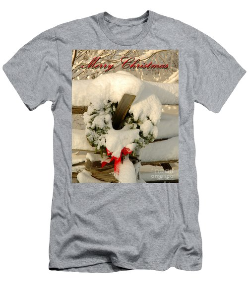 Men's T-Shirt (Slim Fit) featuring the photograph Wreath  by Alana Ranney