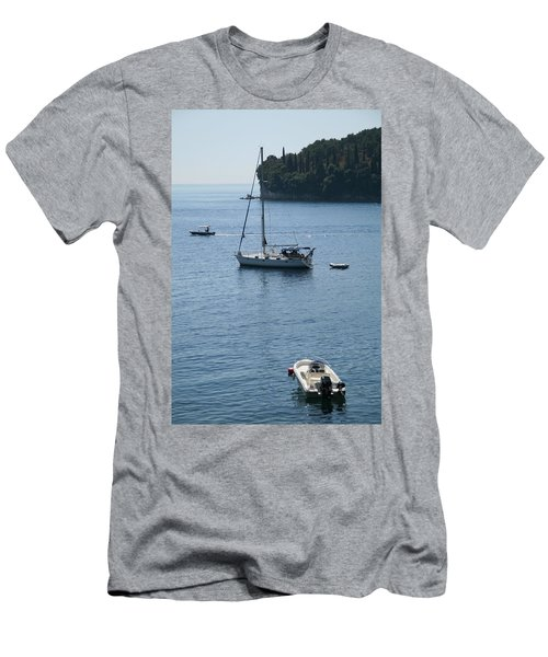 Yachts At Anchor Men's T-Shirt (Athletic Fit)