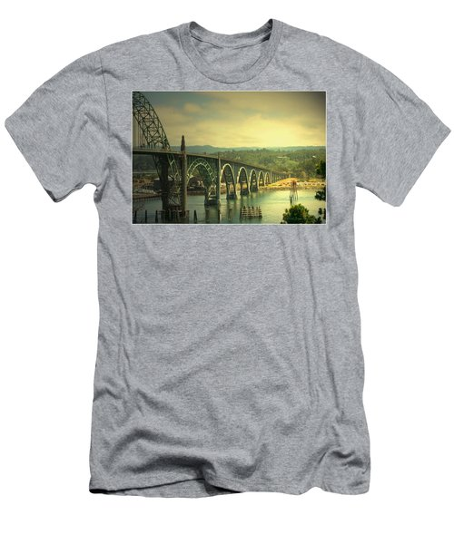 Yaquina Bay Bridge Or Men's T-Shirt (Slim Fit) by Joyce Dickens