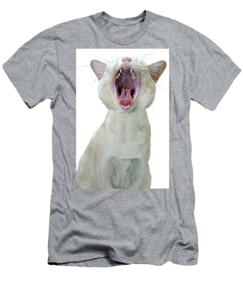 Yawning Cat Men's T-Shirt (Athletic Fit)