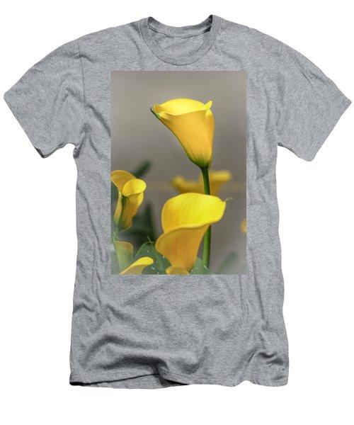 Yellow Calla Lilies Men's T-Shirt (Slim Fit) by Menachem Ganon