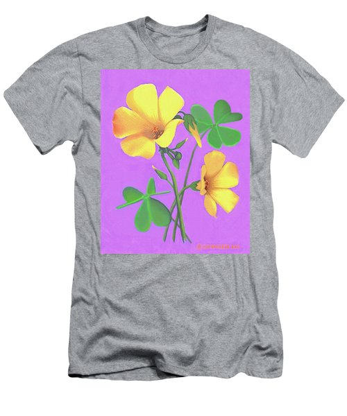 Yellow Clover Flowers Men's T-Shirt (Athletic Fit)