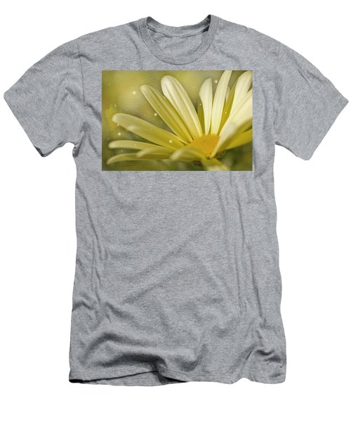 Yellow Daisy Men's T-Shirt (Slim Fit) by Ann Lauwers