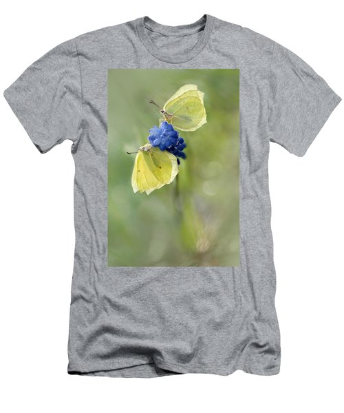 Yellow Duet Men's T-Shirt (Slim Fit) by Jaroslaw Blaminsky
