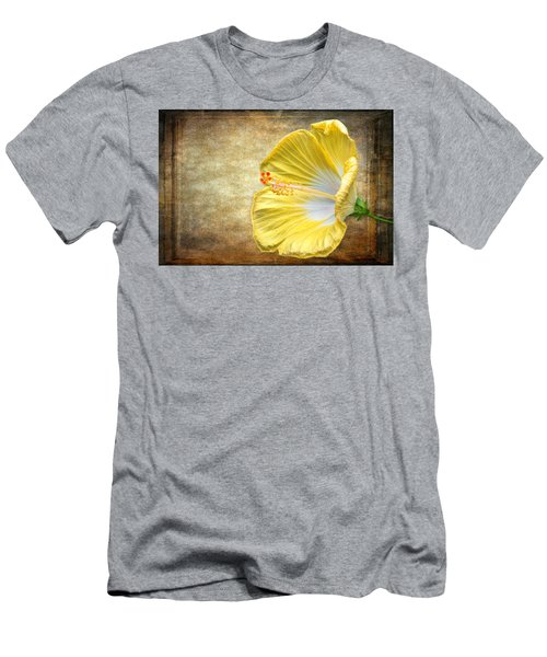 Men's T-Shirt (Athletic Fit) featuring the photograph Yellow Hibiscus by Garvin Hunter