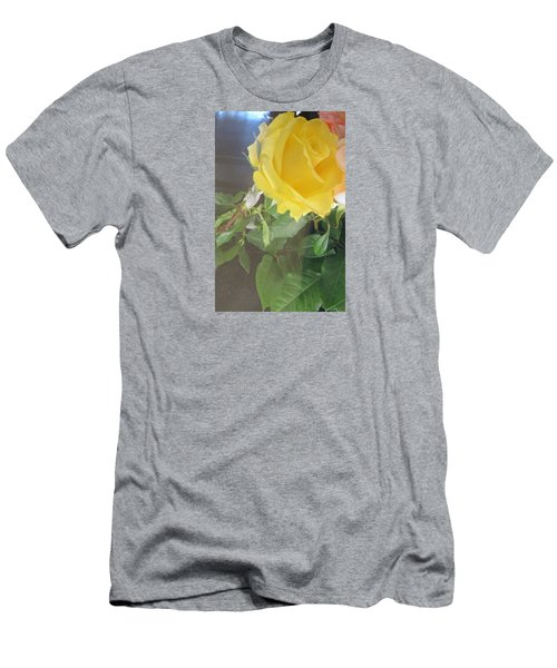 Yellow Rose- Greeting Card Men's T-Shirt (Athletic Fit)