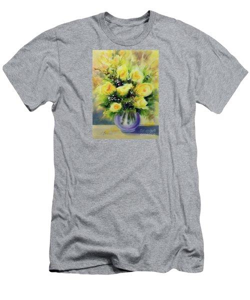 Yellow Roses Men's T-Shirt (Slim Fit) by Kathy Braud