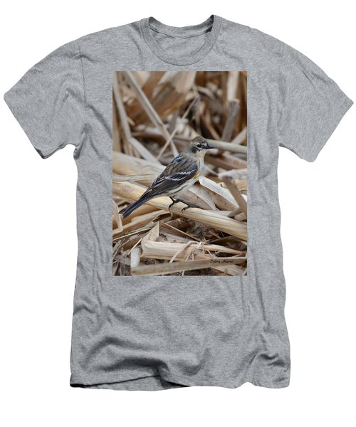Men's T-Shirt (Slim Fit) featuring the photograph Yellow-rumped Warbler by Debra Martz