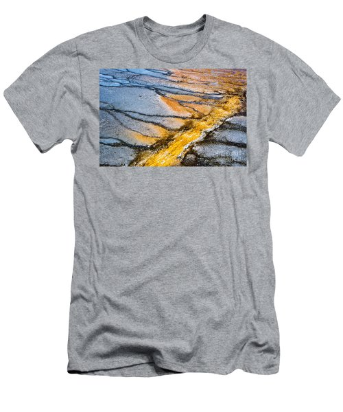 Yellowstone Nature Abstract Men's T-Shirt (Athletic Fit)