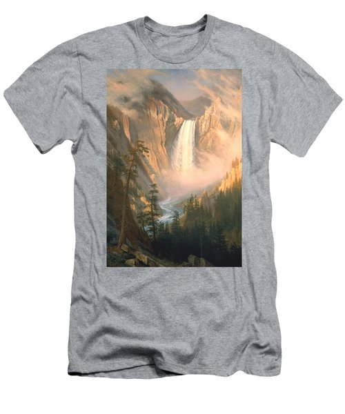 Yellowstone Men's T-Shirt (Slim Fit) by Albert Bierstadt