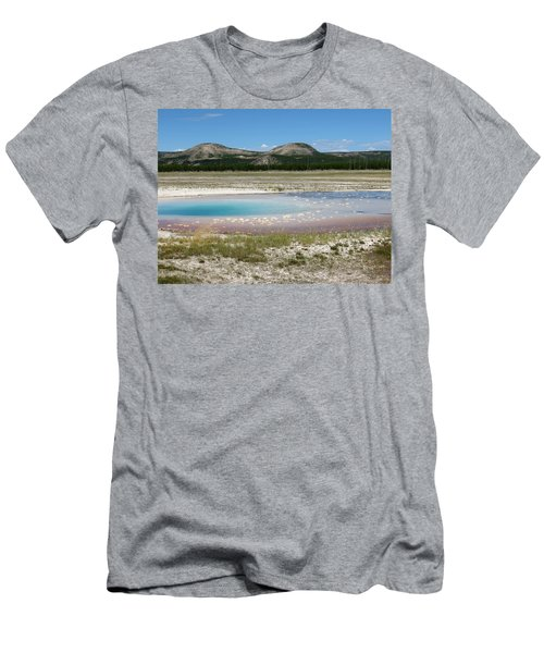 Men's T-Shirt (Slim Fit) featuring the photograph Yellowstone Landscape by Laurel Powell