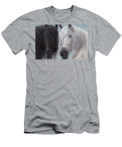 Yin-yang Horses  Men's T-Shirt (Athletic Fit)