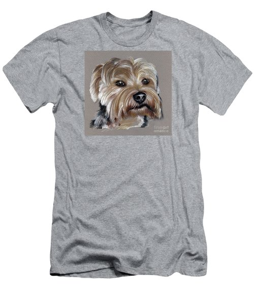 Yorkshire Terrier- Drawing Men's T-Shirt (Athletic Fit)