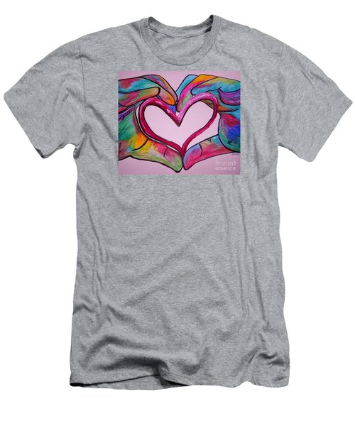 You Hold My Heart In Your Hands Men's T-Shirt (Athletic Fit)