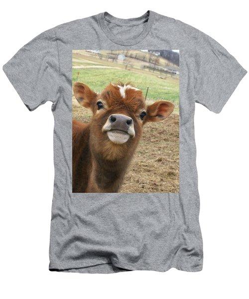 You Looking At Me Men's T-Shirt (Slim Fit) by Sara  Raber