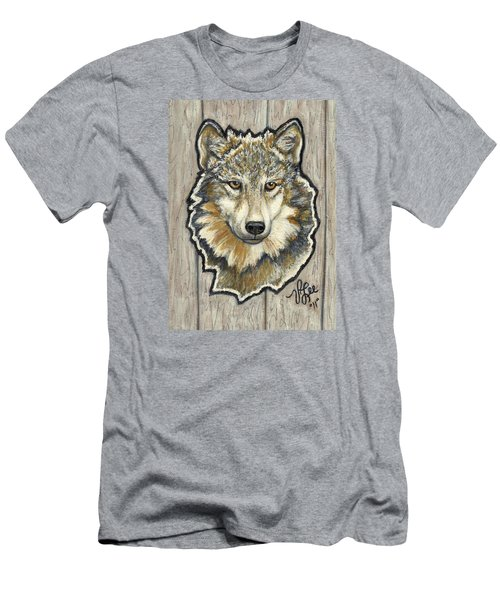 Men's T-Shirt (Slim Fit) featuring the painting Young Wolf by VLee Watson