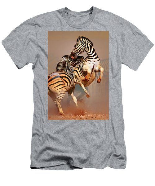 Zebras Fighting Men's T-Shirt (Athletic Fit)