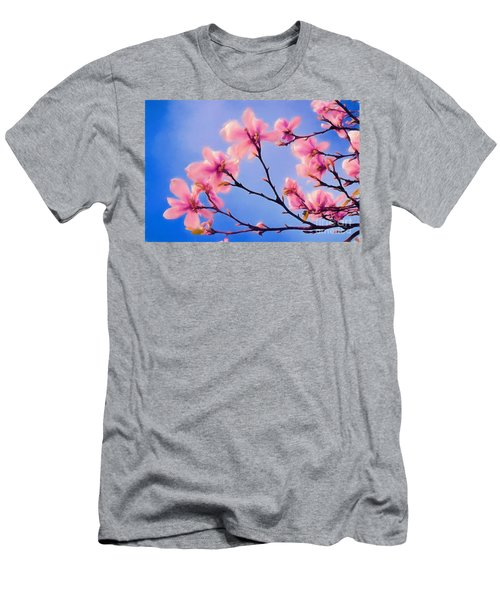 Cherry Blossums In Digital Watercolor Men's T-Shirt (Athletic Fit)
