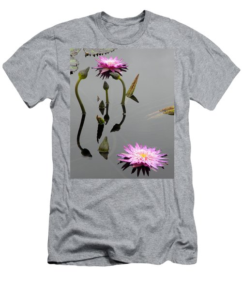Zen Lilies Men's T-Shirt (Athletic Fit)
