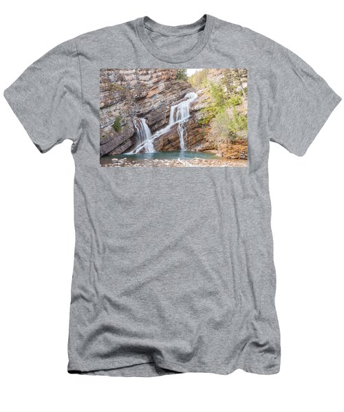 Men's T-Shirt (Slim Fit) featuring the photograph Zigzag Waterfall by John M Bailey