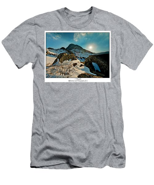 Spring Snows At Tryfan Men's T-Shirt (Athletic Fit)