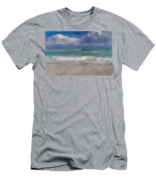 Beach Background Men's T-Shirt (Athletic Fit)