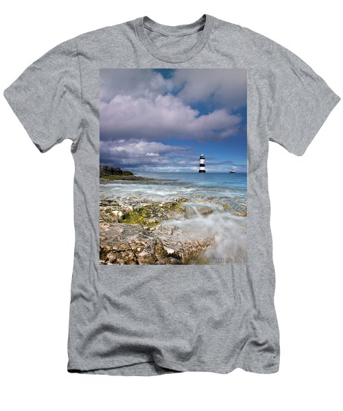 Fishing By The Lighthouse Men's T-Shirt (Athletic Fit)
