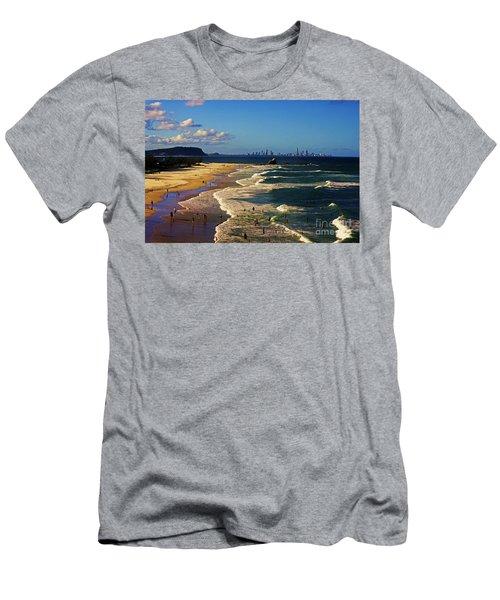 Gold Coast Beaches Men's T-Shirt (Athletic Fit)
