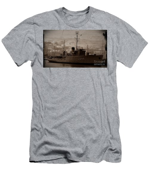 Men's T-Shirt (Slim Fit) featuring the photograph Hmas Castlemaine 2 by Blair Stuart