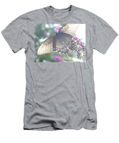 Sheer Butterfly Men's T-Shirt (Athletic Fit)