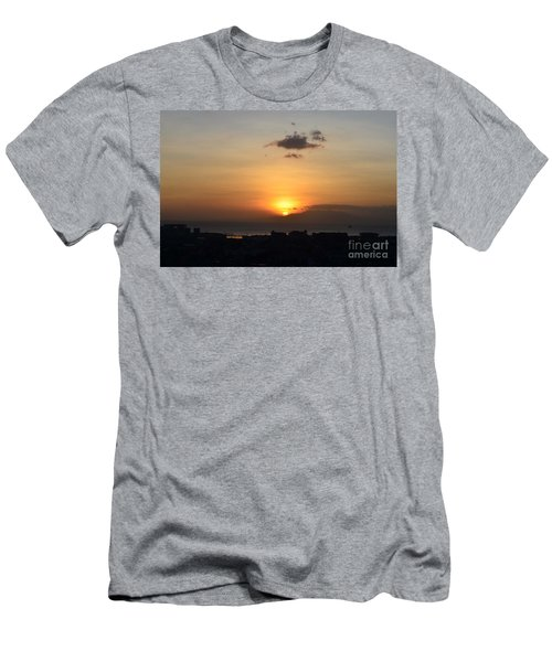 Sunset Upon The Ocean  Men's T-Shirt (Athletic Fit)