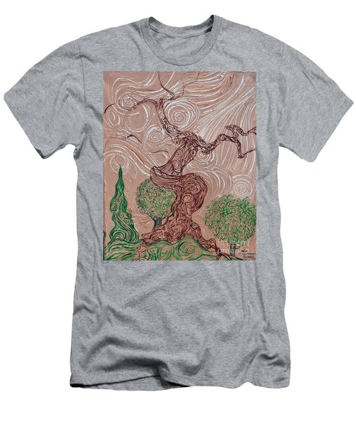 The Earthen Tree Men's T-Shirt (Athletic Fit)