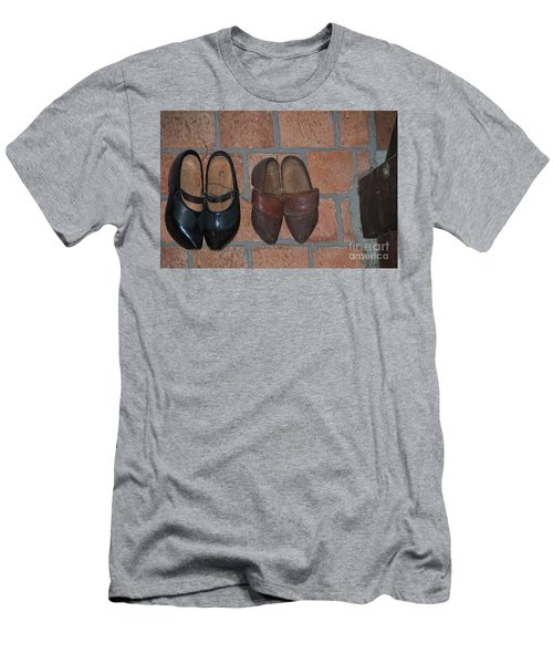 Old Wooden Shoes Men's T-Shirt (Slim Fit) by Carol Ailles