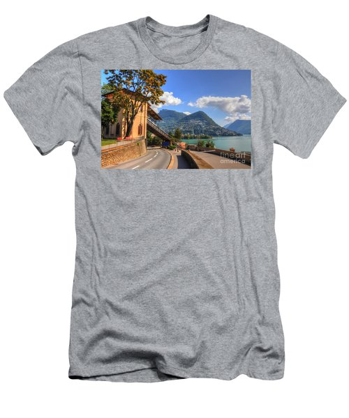 Road And Mountain Men's T-Shirt (Athletic Fit)