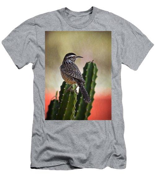 A Cactus Wren  Men's T-Shirt (Slim Fit) by Saija  Lehtonen