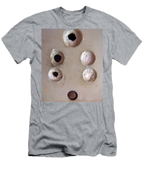 A Clogged Up 5 Point Electric Plug Point Men's T-Shirt (Slim Fit) by Ashish Agarwal