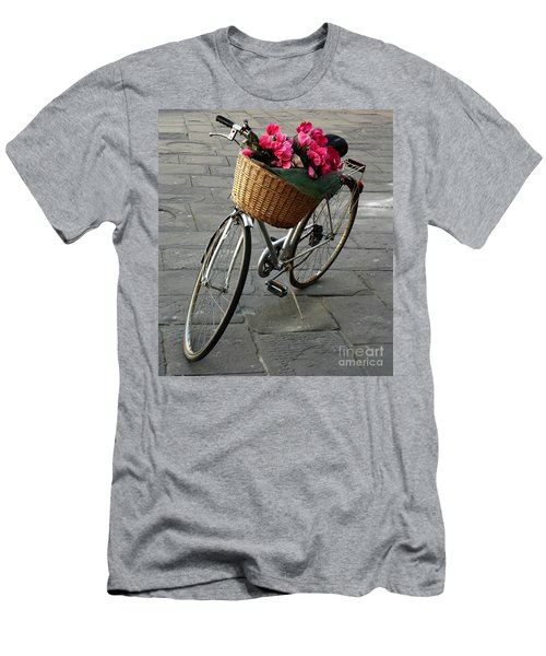 A Flower Delivery Men's T-Shirt (Slim Fit) by Vivian Christopher