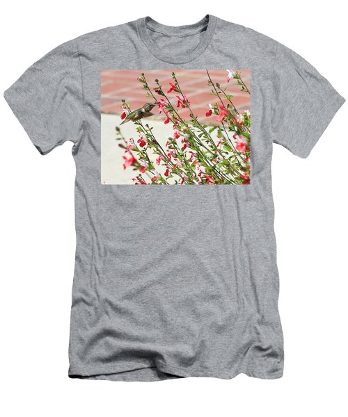 A Garden Delight Men's T-Shirt (Slim Fit) by Heidi Smith