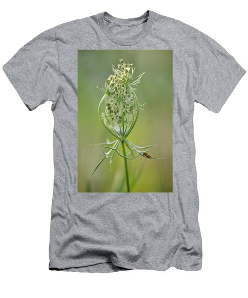 Men's T-Shirt (Slim Fit) featuring the photograph A Meal Of Lace by JD Grimes