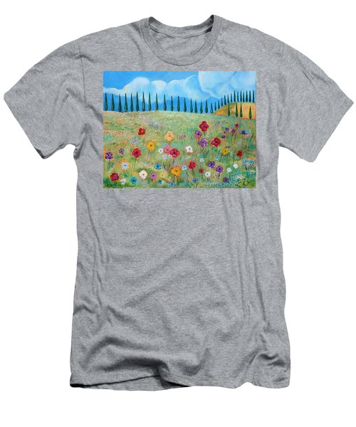 A Peaceful Place Men's T-Shirt (Slim Fit) by John Keaton
