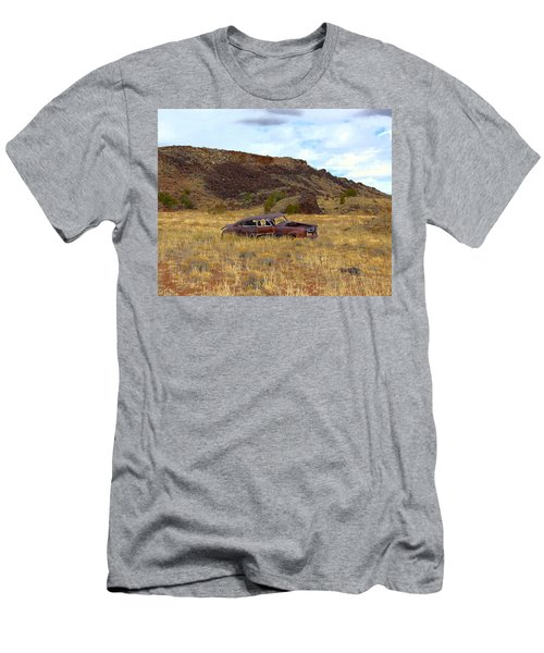Men's T-Shirt (Slim Fit) featuring the photograph Abandoned Car by Steve McKinzie