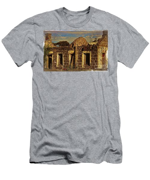 Men's T-Shirt (Slim Fit) featuring the digital art Abandoned Farmhouse by Blair Stuart